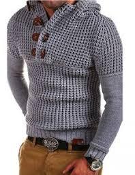 <b>ZOGAA 2019 Autumn Winter</b> Men Knitted Sweaters Casual Horn ...