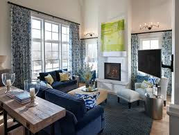 Great Blue And Silver Living Room Designs White Stain Wall Silver And Blue Living Room