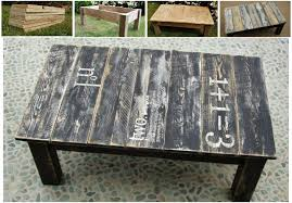 recycled palette coffee table