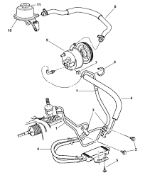 Chrysler town and country parts diagram power steering hoses for intended present capture 180700 large848