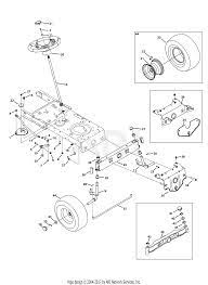 parts diagram for front end steering