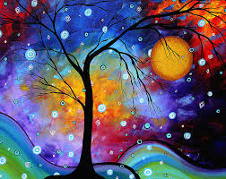 abstract painting winter sparkle original madart painting by megan duncanson