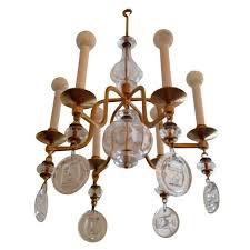 erik hoglund kosta boda 1960s gilded swedish mid century chandelier for