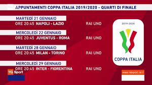 Rai Sport, Coppa Italia 2019/2020 Quarti - Programma e ...