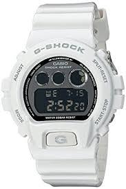 amazon com casio g shock mirror metallic white mens digital watch casio g shock mirror metallic white mens digital watch casio dw6900nb 7