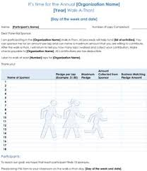 Walkathon Pledge Form Templates Pledge Form For Donations Small Business Free Forms