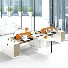 2 Person Office Desk Modern Furniture Specification 3 Drawer Executive  Table L Shaped