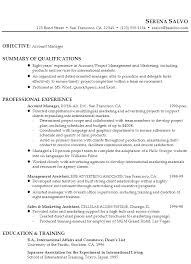 Gallery Of Resume Example For A Account Manager In Sales Marketing