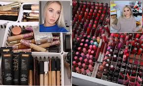 lauren curtis and shannon harris declutter their make up daily mail
