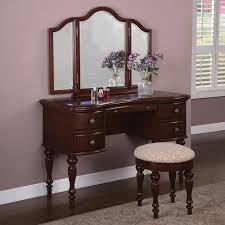 cherry wood vanity table powell furniture warm cherry wood makeup vanity table with mirror