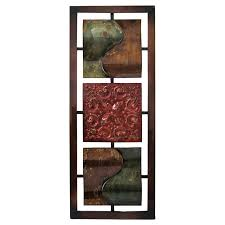 16 x 40 in paisley metal wall d cor on red and brown metal wall art with 16 x 40 in paisley metal wall d cor at home