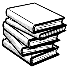bookshelf drawing stack book 104020190