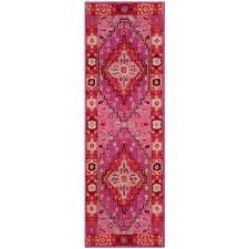 safavieh bellagio red pink 2 ft x 7 ft runner rug