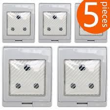 usa standard waterproof ip55 power outlet with an 10a splash socket a switch cr ams