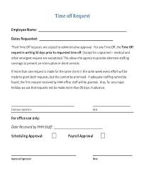 Holiday Request Form New Employee Request For Time Off Form 48c Chookiesco