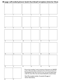 Free Picture Book Thumbnail Templates For Writers And Illustrators