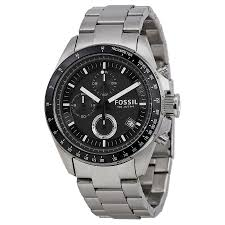 fossil decker chronograph stainless steel black dial men s watch fossil decker chronograph stainless steel black dial men s watch ch2600