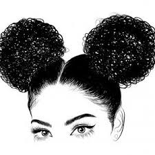 African American Pretty Girl Vector Illustration Soidergi