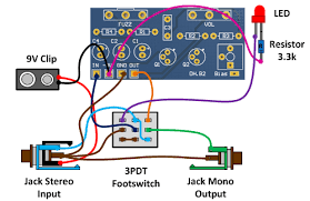fuzz face wiring for npn transistors negative ground