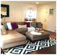 area rug placement for sectionals rug placement living room sectional how to place an area with