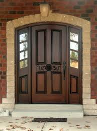 chocolate wooden door with black handle ideas