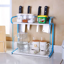 2 Tier Rack Kitchen Bathroom Countertop Storage Organizer Spice ...