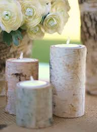 Attractive Accessories For Table Centerpiece Decoration With Birch Bark  Candle Holders : Breathtaking Image Of Dining ...