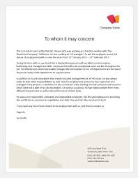 experience letter sample work experience certificate templates for ms word word
