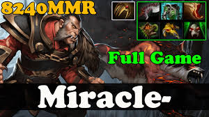 dota 2 miracle 8200 mmr plays lycan full game ranked