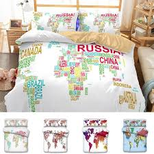 hot 6 styles us au size luxury bedding set duvet world map printed bed cover set king sizes duvet cover bedding set t6i025 bedding linens full duvet covers