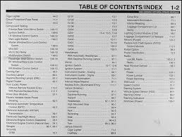1999 ford crown victoria mercury grand marquis wiring diagram manual table of contents page 2