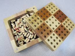 Wooden Peg Board Game Sudoku Wood Board Game Set Wooden Peg Pieces Mini Travel Number 9