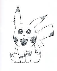 Pikachu Art Print Pokemon Art Pikachu