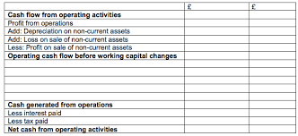 Cash Flow Statement Notes Questions Format With Examples