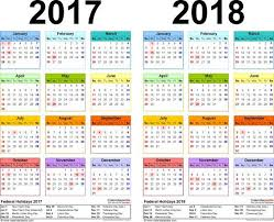 two year calender 2017 2018 calendar free printable two year pdf calendars free