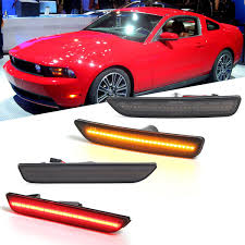 2014 Mustang Side Marker Lights Front Rear Led Side Marker Lights Turn Signals Lamps Smoked