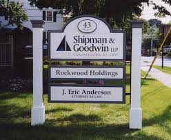 Decorative Sign Posts Yush Sign Outdoor Signs Momument Lawn Building Simsbury East 13