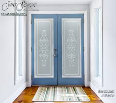 glass front doors etched traditional classic sans soucie