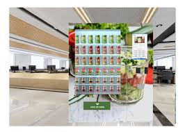 Fresh Salad Vending Machine Awesome Self Service Fresh Salad Vending Machine Conveyor Belt Vending Machine