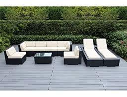 Amazon Ohana 9 Piece Outdoor Wicker Patio Furniture