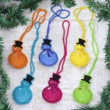 Assorted Wool Snowman Ornaments From India Set Of 6 Colorful Snowmen