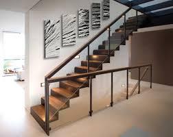 Staircase wall art ideas - metal wall panel art from DV8 Studio