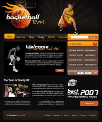 Baseball Websites Templates Basketball Website Templates Dabeetz Com