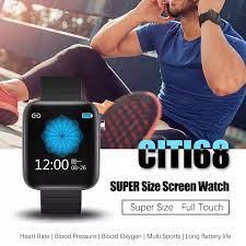 Bắc Edge CITI 68 Bluetooth Thể Thao Đồng Hồ Màn Hình Cảm Ứng Lớn Nhịp Tim  Áp Gọi & SMS Nhắc Nhở Vòng Tay Thông Minh|Smart Watches