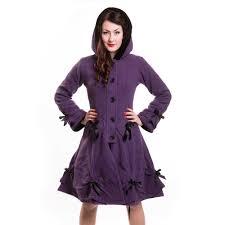 alice coat winter jas dames paars goth