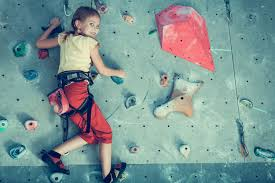 kids rock climbing wall at explorers world in dingle