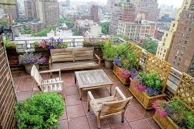 small terrace furniture. small terrace garden on roof top with amazing city views completed wooden patio furniture bench decorated flowers planted in pots and e