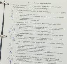 Worksheet On Chemical Vs Physical Properties Matter Pure ...