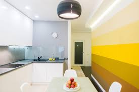 Light Yellow Kitchen Design Industrial Yellow Kitchen Design Light Striped Wood