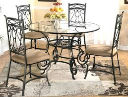 wrought iron round kitchen table and chairs glass top kitchen table with chairs amazing of luxury